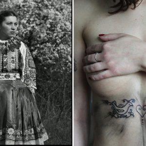 Mladá umelkyňa si pripomenula našu históriu originálnym spôsobom. Dievčatám na telá tetuje tradičné slovenské ornamenty
